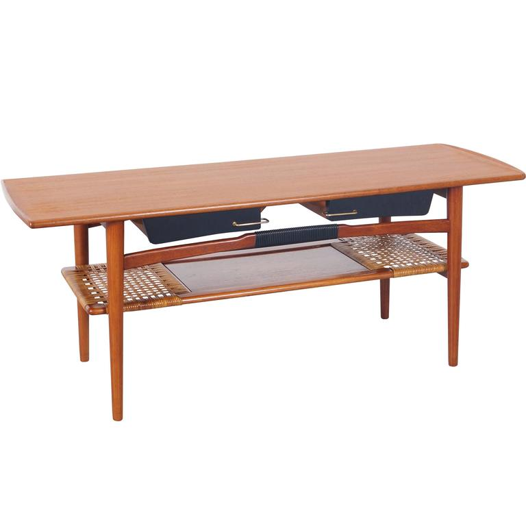 Danish Modern Teak Coffee Table For Sale At 1stdibs