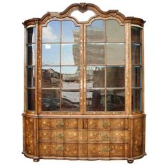18th Century Dutch Marquetry Vitrine