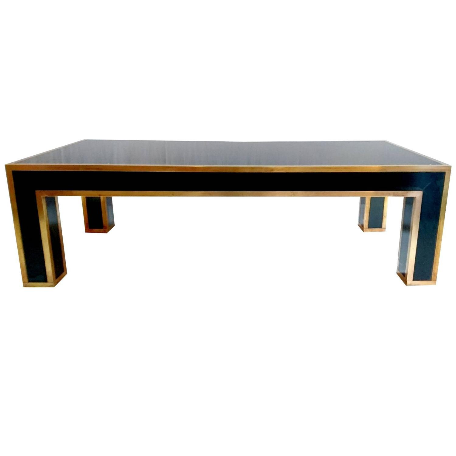 Cocktail Table In Laminate And Brass 1960s At 1stdibs