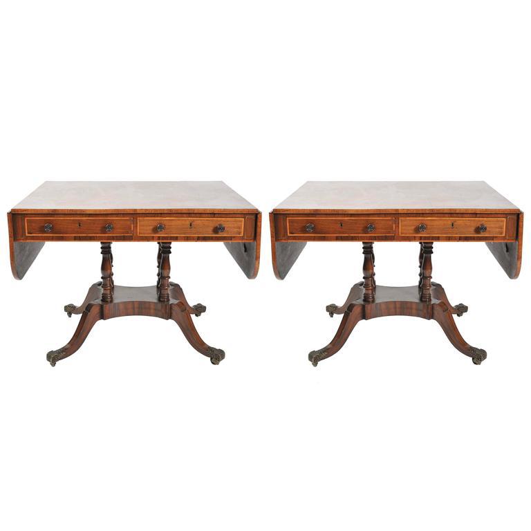 Pair of Regency Sofa Tables