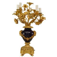 French Victorian Gilt Bronze Candelabra
