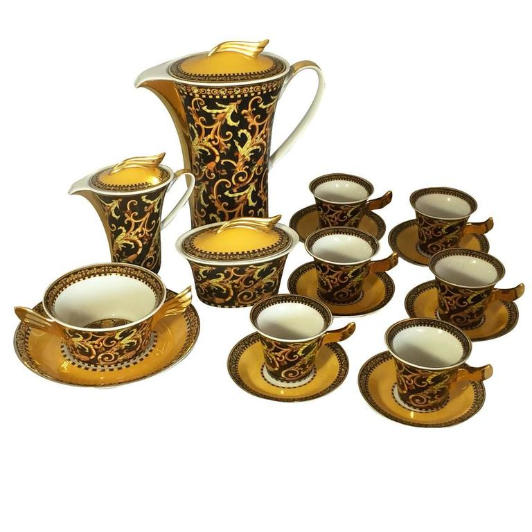 Rosenthal Versace Coffee Set At 1stdibs