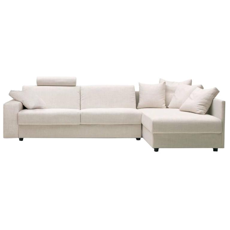 Modern Italian Sofa Bed Sectional SB41, Fabric, New, Made In Italy For Sale