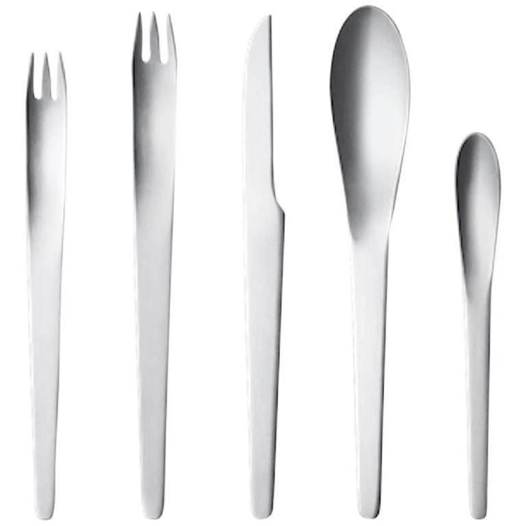 Arne jacobsen by georg jensen stainless steel flatware set for 4 service 20 pcs at 1stdibs - Arne jacobsen flatware ...