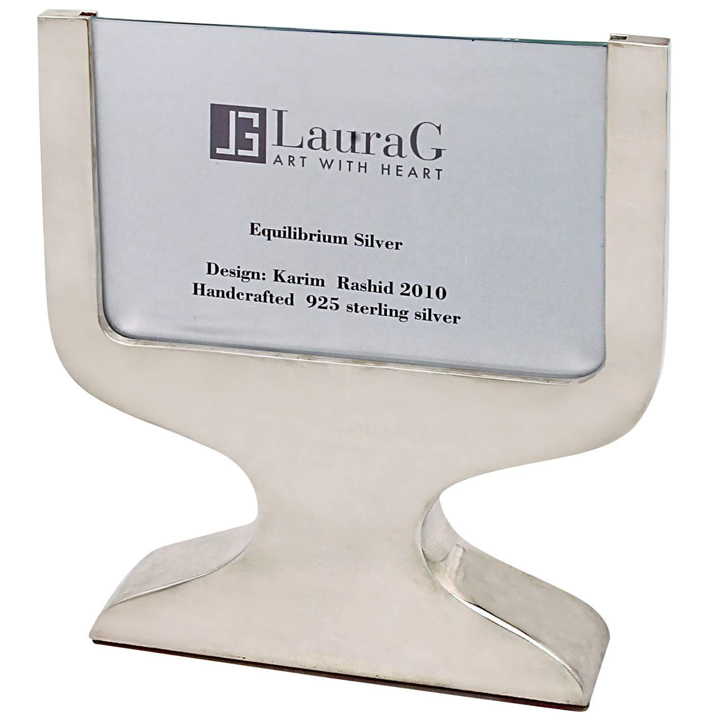 Contemporary Italian Picture Frame, Equilibrium Silver