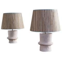 Liz O'Brien Editions Handmade Terracotta Lamps