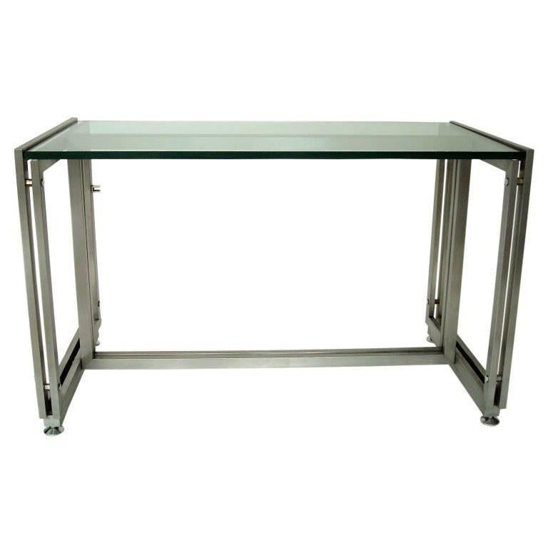 French Steel Desk by Paul Le Geard for Maison Jansen Edition DOM For Sale