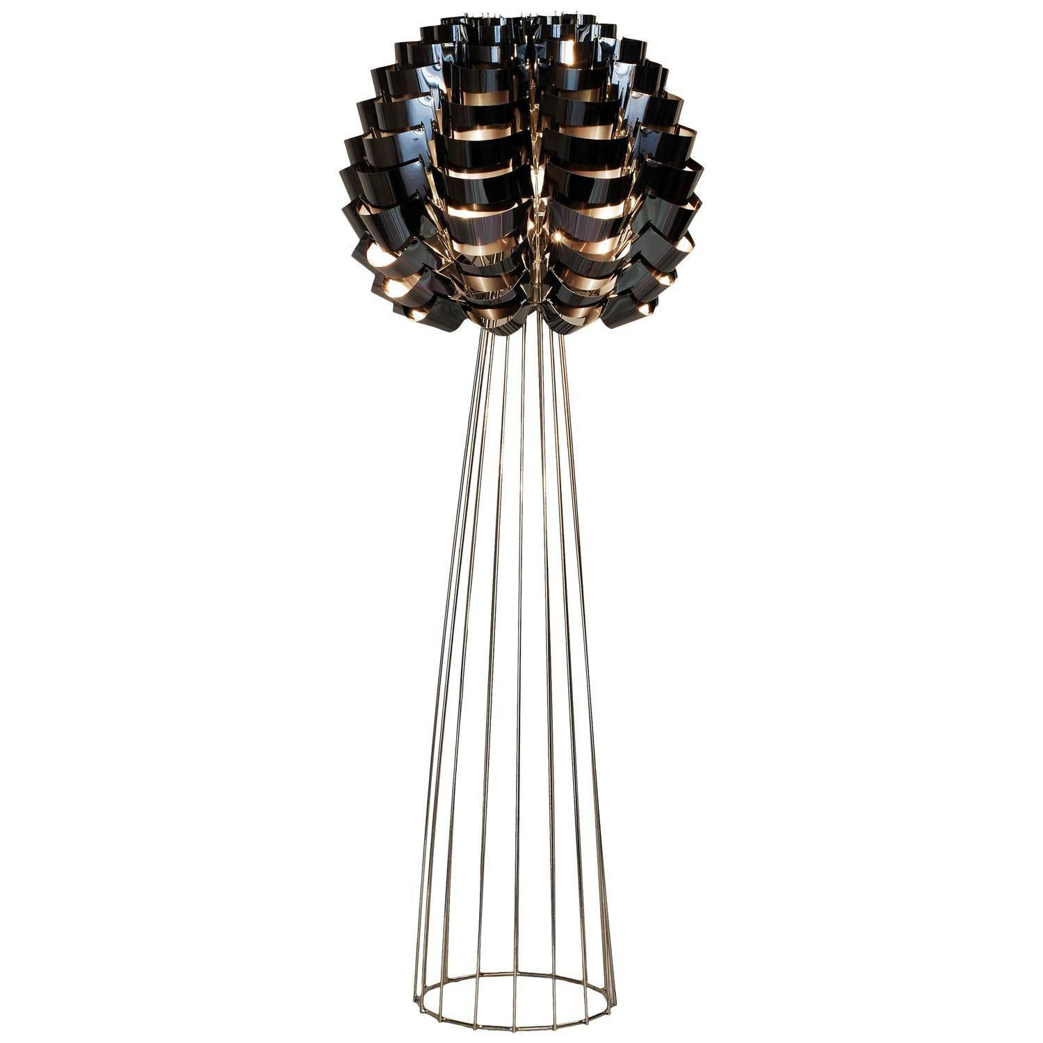max sauze  black orion  floor lamp for sale at 1stdibs