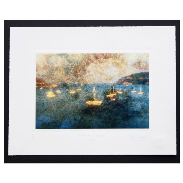"Bernard Baudet Limited Edition Giclee Print ""French Riviera"""