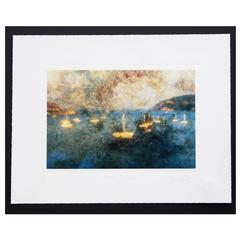 "Bernard Baudet Limited Edition Giclee Print ""French Riviera"""