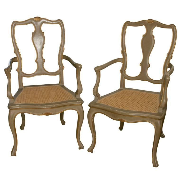 Pair of Italian Painted Chairs