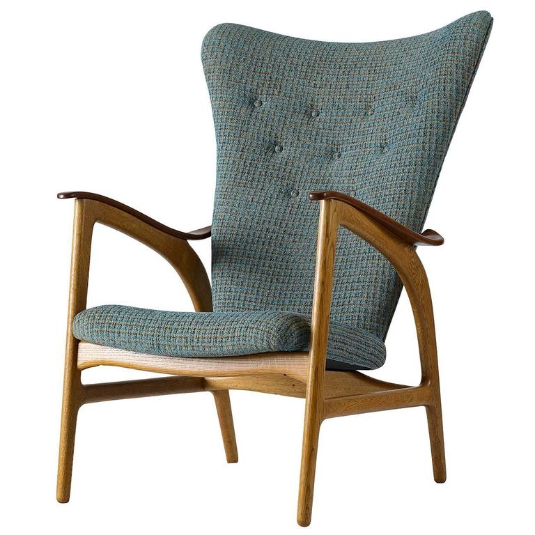 Danish Wingback Lounge Chair 1