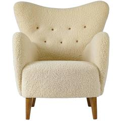 Beautiful Scandinavian Sheepskin Lounge Chair