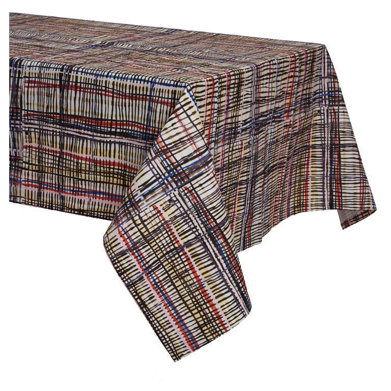Crazy Plaid Tablecloth For Sale
