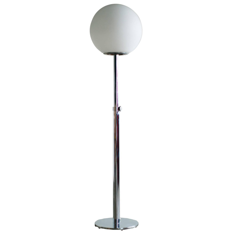 Luci italia modern chrome floor lamp for sale at 1stdibs for Modern floor lamp on sale