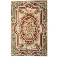 20th Century Aubusson Rugs, French style flat weave rug