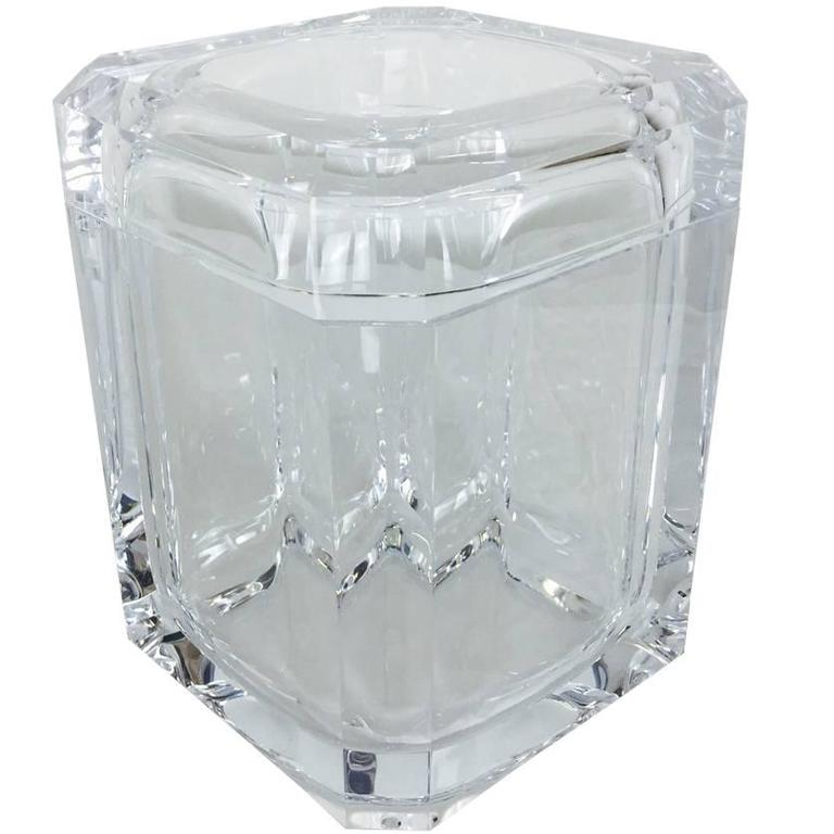 Lucite Ice Bucket with Swivel Top