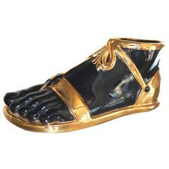 Fornasetti Style Ceramic Sandal Clad Foot