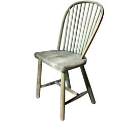 Good Painted George III West-Country Stick-Back Childs Chair, circa 1800-1820