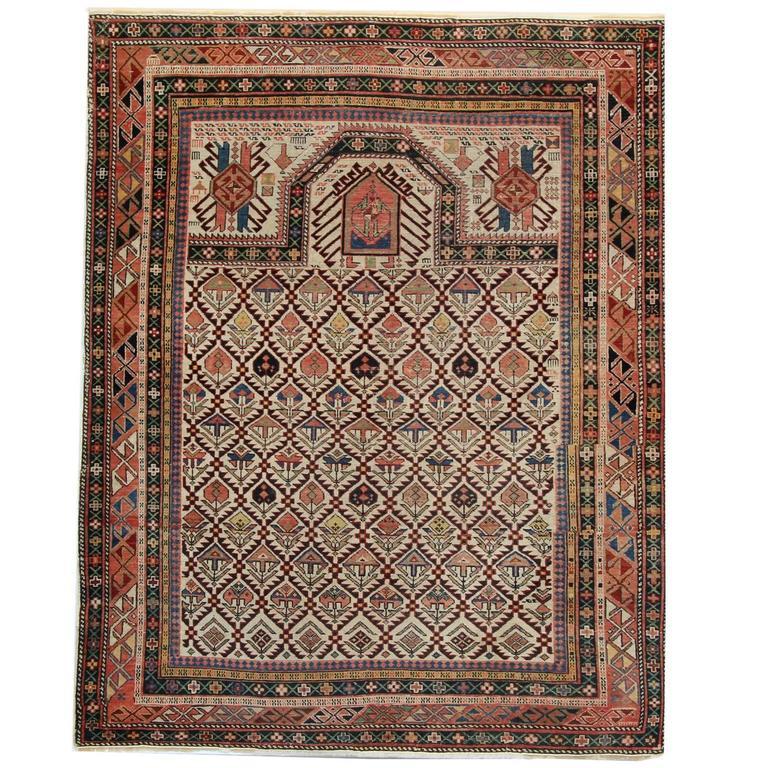 Persian Rugs, Antique Caucasian Carpet from Shirvan