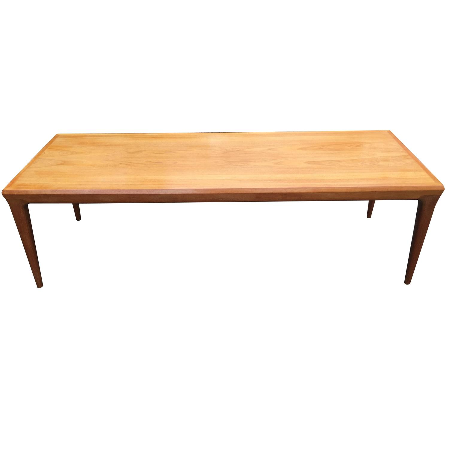 Long Golden Teak Coffee Table By Johannes Andersen For Sale At 1stdibs