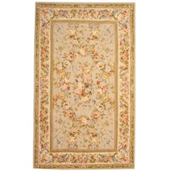 Floral Rug in the Style of Aubusson Rugs, Kilim Rugs, French Style Carpet