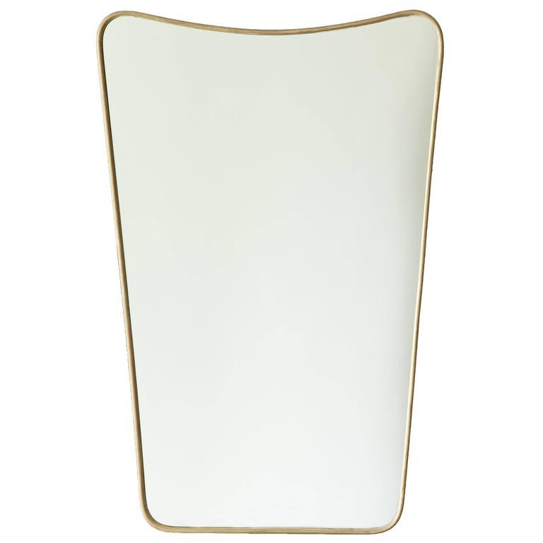 Italian 1950s Brass Wall Mirror 1