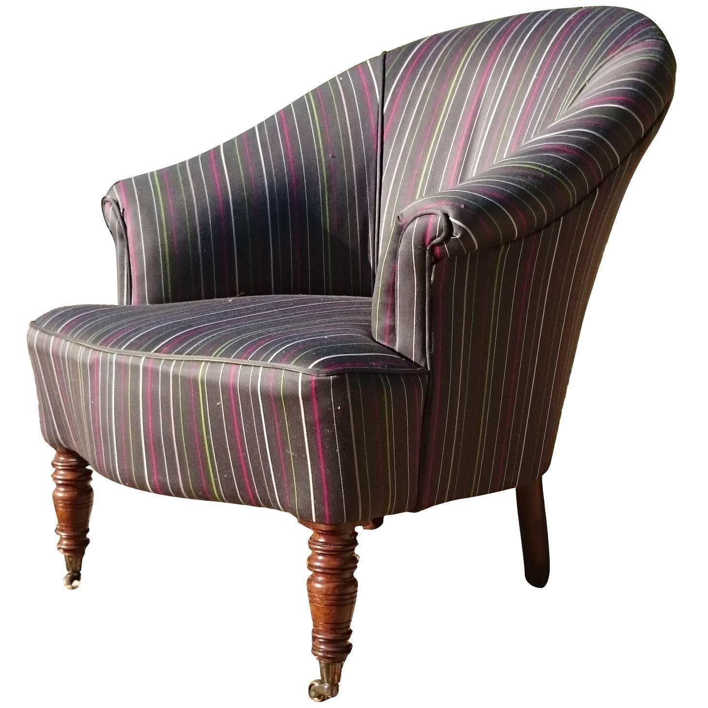 - Antique Tub Chair Standing On Turned Front Legs At 1stdibs