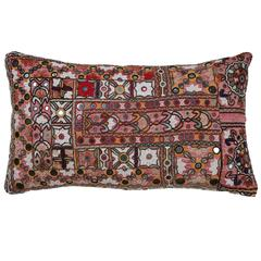 Indian Mirrored Shisha Pillow.  Ivory. Pink. Red. Black.  Ethnic Cushion