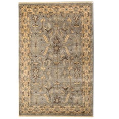Handmade Carpet Damask Oriental Rugs, Grey Rugs for Sale
