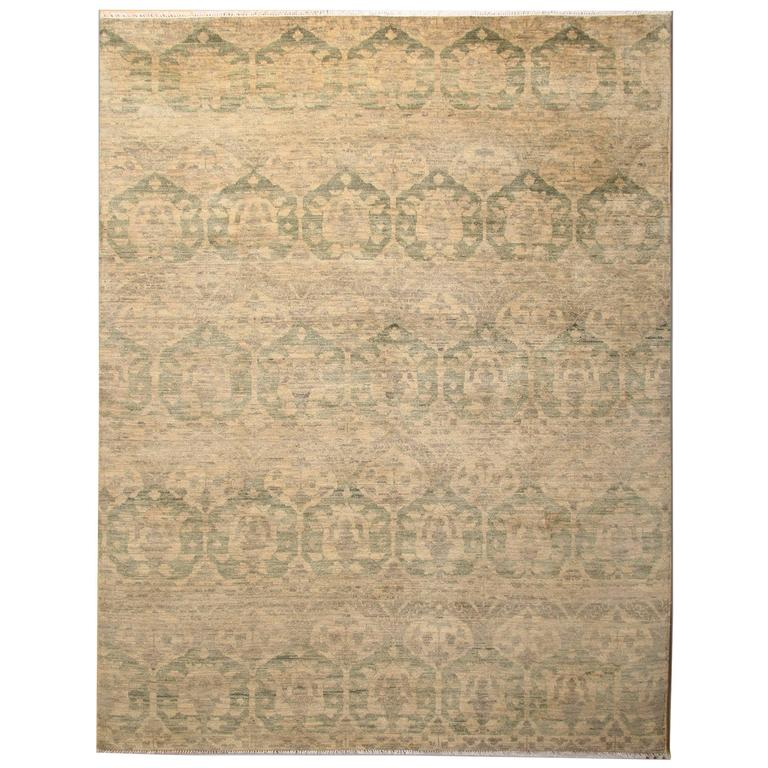 Fine Contemporary Modern Damask Design Rug From Nepal For