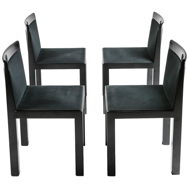 "Set of Four ""Teatro"" Chairs by Aldo Rossi for Molteni"