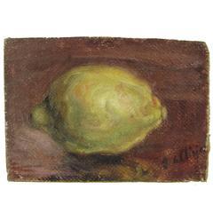 "Giorgio De Chirico Natura Morta ""Limon Framed Oil on Canvas"" Painting"