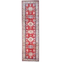 Oriental Rug Red Kazak Persian Runner, Carpet Runners, Persian Rugs from Kazak