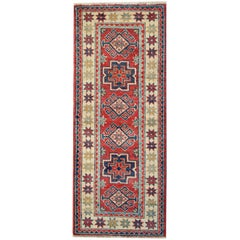 Kazak Oriental Runner Rug Red Carpet Runners, Persian Rugs from Kazak