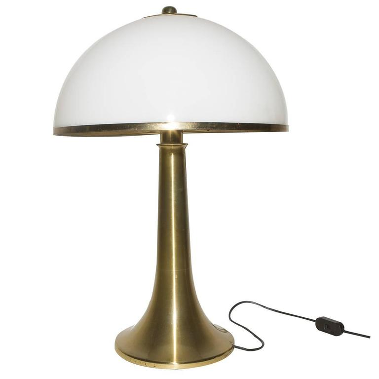 Table Lamp by Gabriella Crespi, Signed, 1970s, Italy