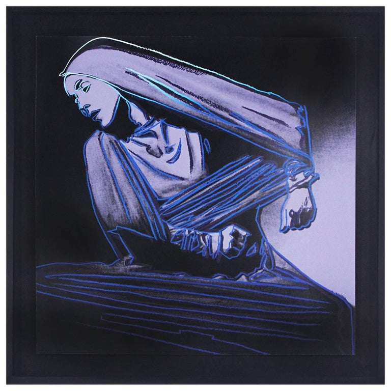 Andy Warhol Lamentation #388 from Martha Graham Series 1986 Signed Screen Print  For Sale