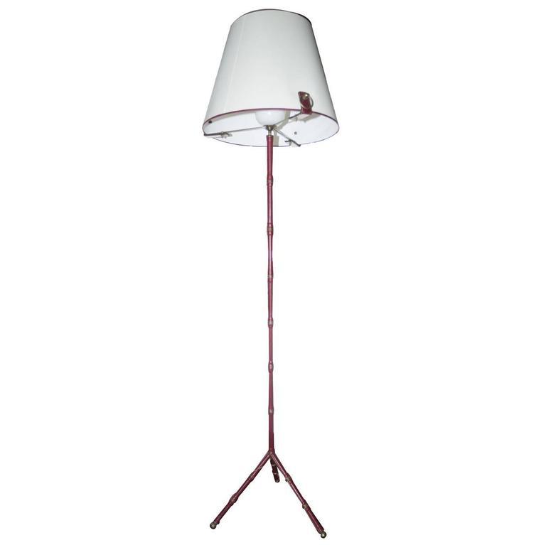 Floor Lamp, Jacques Adnet for Hermes, 1960s, France