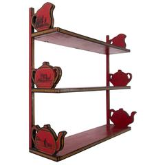 Retro Teapot Design Shelf