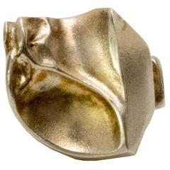 "Scandinavian Modern Silver ""Sagitta"" Ring by Bjorn Weckstrom, Lapponia, Finland"