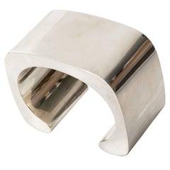 Scandinavian ModernSterling Silver Cuff Bracelet, Pekka Piekainen, Finland 1978