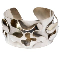 Scandinavian Modern Silver Bracelet, Henry Marius Jacobsen Bracelet Copenhagen,