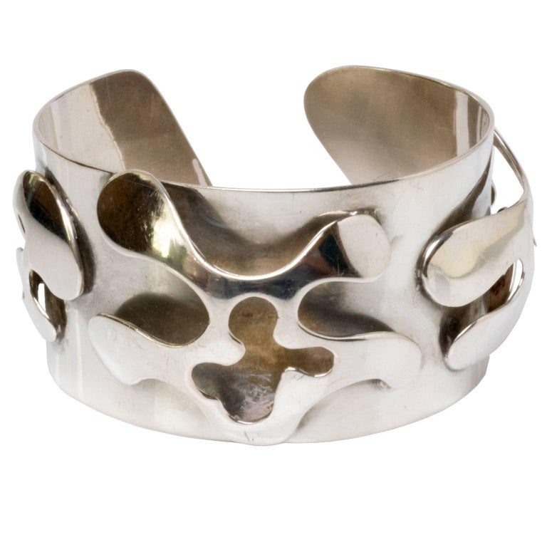 Scandinavian Modern Silver Bracelet, Henry Marius Jacobsen Bracelet Copenhagen, For Sale