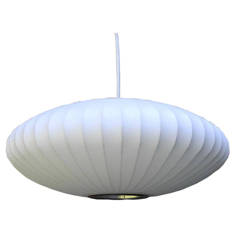 """Mid-Century Modern Small Pendant """"Bubble Lamp"""" by George Nelson"""