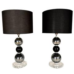Pair of Italian Murano Table Lamps