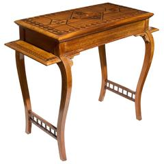 Folk Art Inlaid Wooden Table