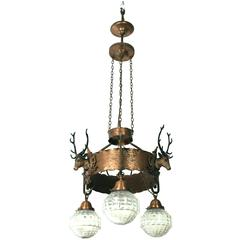 Exquisite Chandelier of an Austrian Hunting Lodge