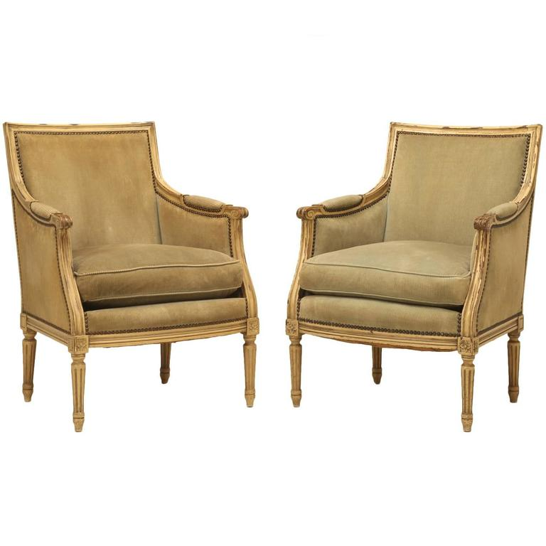 Vintage French Louis Xvi Style Bergere Chairs At 1stdibs