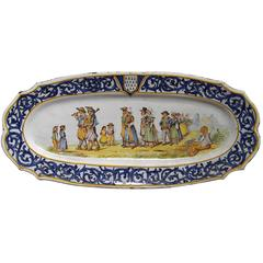 Early Henriot Quimper Platter by Camille Moreau, circa 1893