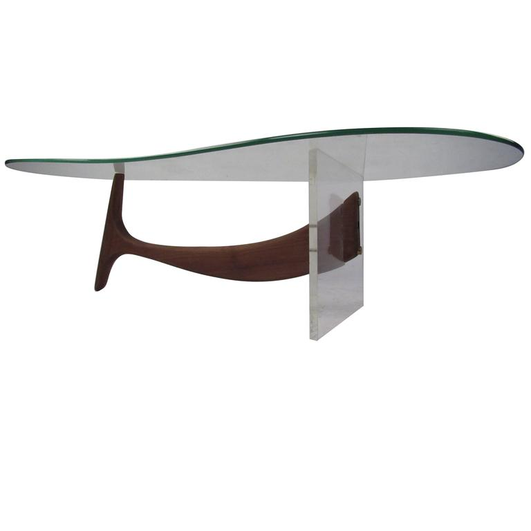 Kagan Style Kidney Shaped Coffee Table For Sale At 1stdibs